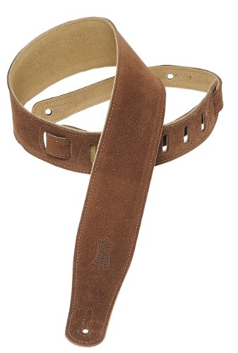 Levy's Leathers MS26-BRN 2.5-inch Suede-Leather Strap,Brown