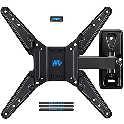 Mounting Dream Full Motion TV Wall Mount Bracket Fits Most of 26-55 Inches LED, LCD TV, Mount with Articulating Arms, 55 LBS Loading Capacity, max VESA 400 x 400mm MD2411-MX-P