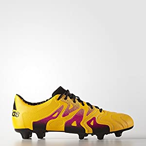 Adidas Leather Soccer Cleats 9.5 - X 15.1 FG/AG, Gold/Pink/Black