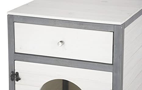 Kerbl - Casa para Gatos (45 x 58 x 60 cm), Color Blanco y Gris: Amazon.es: Productos para mascotas