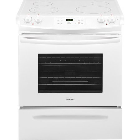 white electric range. Frigidaire FFES3026TW 30 Inch Slide-in Electric Range With Smoothtop  Cooktop In White White Electric Range I