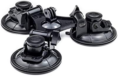 Triple Suction Cup Car Mount Holder For Nikon Jeemak DBPOWER Vemont Action Cam