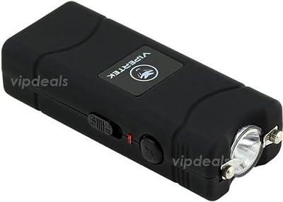 VIPERTEK VTS-881 70 MV Rechargeable Micro Mini Stun Gun LED Flashlight - Black