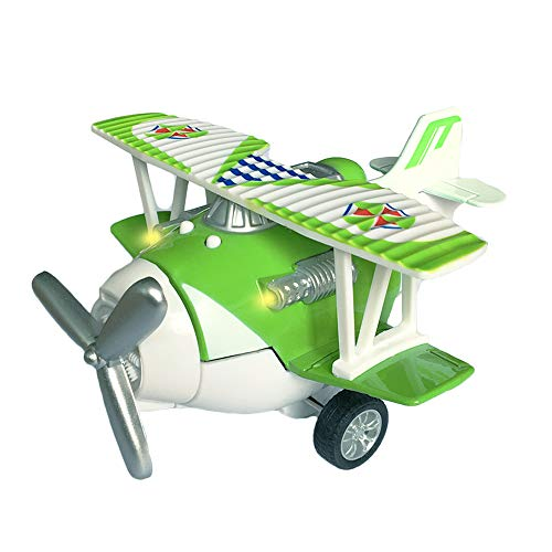 Airplane Pull Back - Joyfun Die-cast Toy Plane Mini Pull-back Airplane Model Biplane Aircraft Toy Vehicles Decor Cake Topper Helicopter Bomber Fighter Jets Christmas Thanksgiving Gifts JF-plane Green
