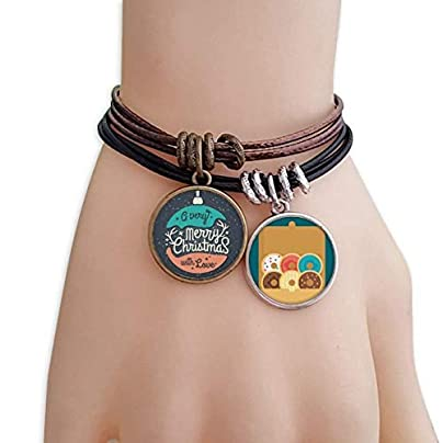 littleprincess Christmas Colorful Garland Abstract Illustration Bracelet Rope Doughnut Wristband Estimated Price -