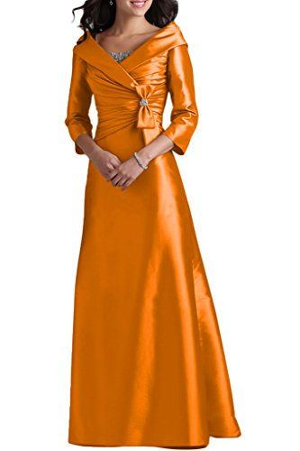 Mutterkleid Abendkleid Damen Aermel Liebling Linie Ivydressing A V Festkleid Taft Lang Abendkleid 3 Orange Ausschnitt 4 7dwFPq