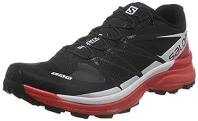 Salomon S-Lab Wings 8 SG Trail Running Shoe Black/Racing Red/White, US 7.0/UK 6.5 - Men's