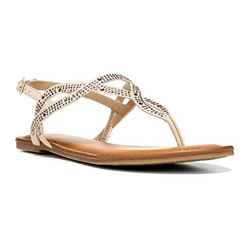Fergalicious Sylvia Donna US 8.5 Beige Sandalo