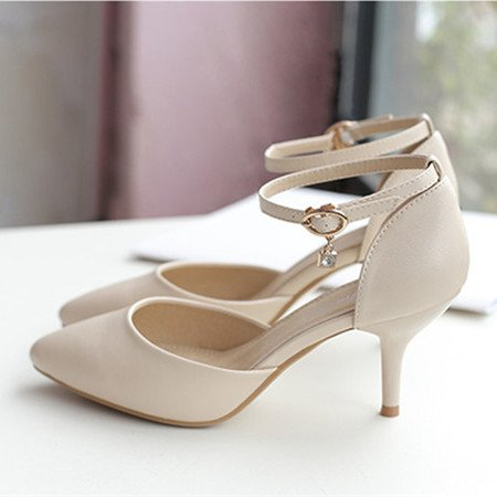 Fine Les Pour La Dotée Et Chaussures Baotou Heel Avec EU39 Fentes Chaussures Shoes Fille Les SHOESHAOGE Cravate De High Sandales Enfants qPdxwPFt