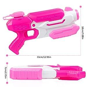O-Kinee Pistola de Agua Super Gun Water Juguete para Niñas de Niños Squirt Water Blaster para Fiesta, Playa, al Aire Libre, Piscina, Verano, Diversión Acuática, Juguetes (Rosado)