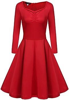 Acevog Women's Hepburn 1950 Vintage Swing Tea Dress