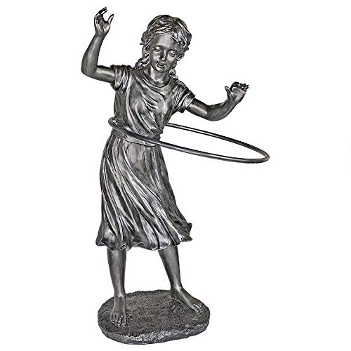 Hula Hooping Girl Garden Statue