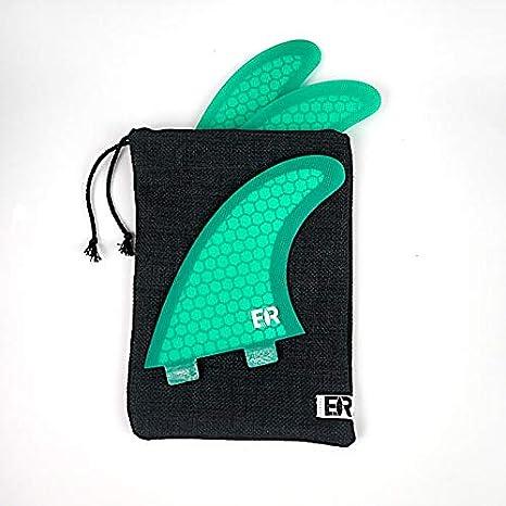 Eisbach Riders Recycled Handmade Surfboard Fin Bag f/ür FCS//Future Surfbrett Finnensets