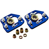 DNA MOTORING CBK-PLT-FM90-BL Front Camber/Caster Plates Blue [for 90-93 Ford Mustang]