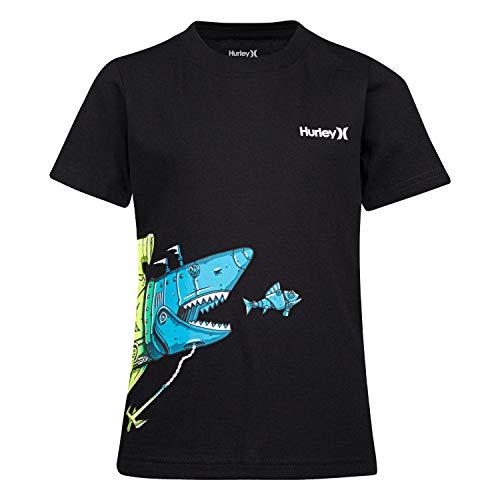(Hurley Boys' Toddler Character Graphic T-Shirt, Black Shark Sub, 2T)