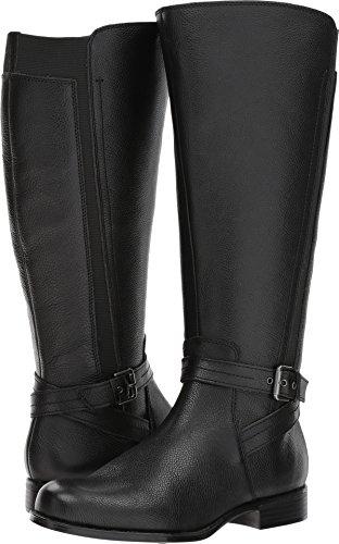 Naturalizer Women's Jelina Wide Calf Black Leather 8 M ()