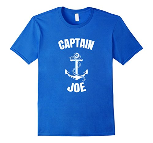 Mens Captain Joe T-Shirt Personalized Boat Captain Shirt XL Royal - Minute For Halloween Last Easy Guys Costumes