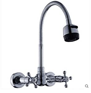 SBWYLT Copper wall mounted kitchen faucets spring water