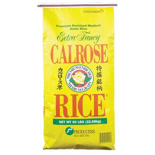 Rice Calrose Paper Bag 50 Pound -- 1 Each