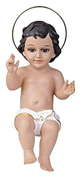 StealStreet Baby Jesus with Glass Eyes Holy Religious Figurine Decoration, 16
