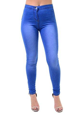 mujer para Skinny Rewatronics Azul Vaqueros wtaq6xEB