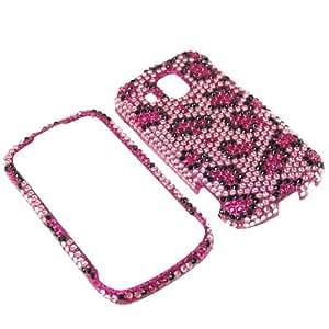 Aimo Wireless SAMM930PCDI123 Bling Brilliance Premium Grade Diamond Case for Samsung Transform Ultra M930 - Retail Packaging - Pink Leopard