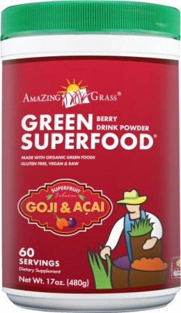 Amazing Grass - Berry Green SuperFood Powder - 60 Servings