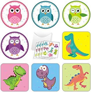 32 Pack Valentines Day Cards for Kids with Scratch & Sniff Stickers and Envelopes, Owl & Dinosaur Kids Valentines Cards Perfect for Classroom Exchange -