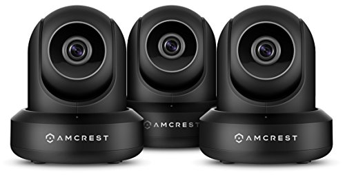 3-Pack Amcrest ProHD 1080P WiFi/Wireless IP Security Camera Pan/Tilt, 2-Way Audio, Optional Cloud Recording, Full HD 1080P 2MP, Super Wide 90° Viewing...