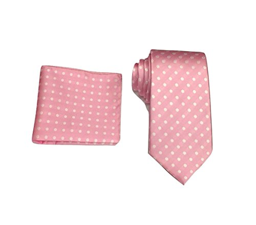 Gift L Christmas Handkerchief Tie Woven Set amp;L® Polka Hanky Dot Pocket Square Pink amp; Men's HOrqcH
