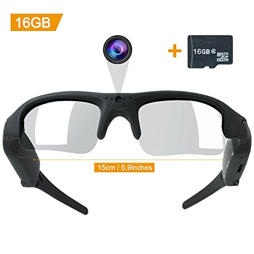 Toughsty 16GB Video Sunglasses Camera Eyewear Sports Action DV Camcorder 1280x960 Video - Dv Sunglasses