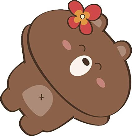 Amazoncom Cute Happy Relaxed Vacation Summer Bear Cartoon Emoji