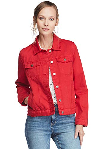 VELVET HEART 'Phyllis' Women's Classic Denim Jacket. Cropped, Fitted Look, Button Down. 100% Premium Down - Jeans Velvet Classic