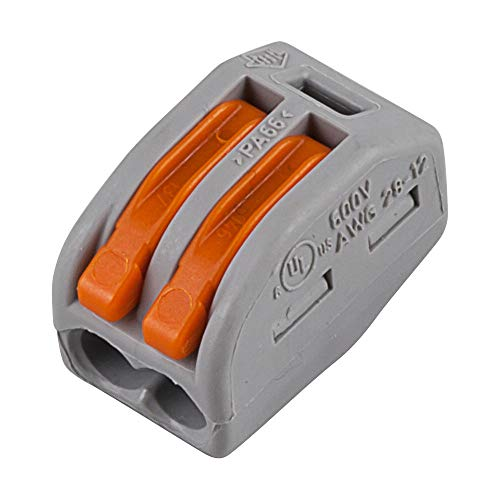Wago 222-412 LEVER-NUTS 2 Conductor Compact Connectors 10 PK