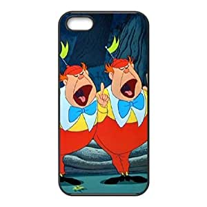 iPhone 5,5S Phone Case Black Alice in Wonderland Tweedledum and Tweedledee YU9392806