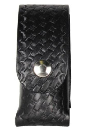 Boston Leather Mace Case. 2 Oz Flap.snap Plain - 5527-3-N (Mace Spray Pouch Plain)