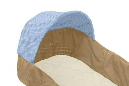 """Babyluxe 100% Organic Cotton Bassinet Sheet- with Safety """"Stay On"""" Corners (Brown Check)"""