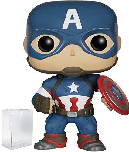 Marvel: Avengers 2 Age of Ultron - Captain America Funko Pop! Vinyl Figure (Bundled with Pop Box Protector Case)