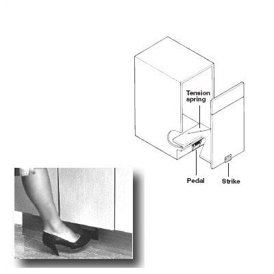 Pedal Hardware - Foot Pedal Door Opener For Pull-Out Door