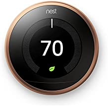 Nest Copper Learning Thermostat Built-in Wifi Model # T3021US