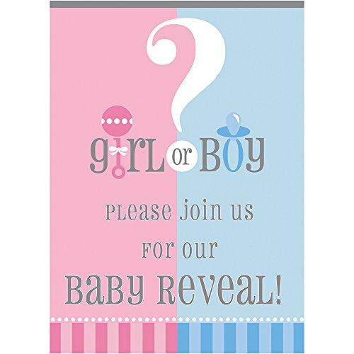 Amazon Gender Reveal Invitations 8ct Kitchen Dining – Baby Gender Reveal Party Invitation Wording