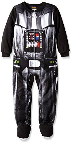 Star Wars Little Boys' Darth Vader Uniform Hooded Blanket Sleeper, Black, -
