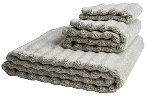 Nutrl Home Classic Bath Towel Set - Antimicrobial 100% Supima Cotton (Dune, Brown) Premium Luxury Bath, Hand, Washcloth Towels Perfect for Hotels, Travel, Bathrooms, Spa, and Gym