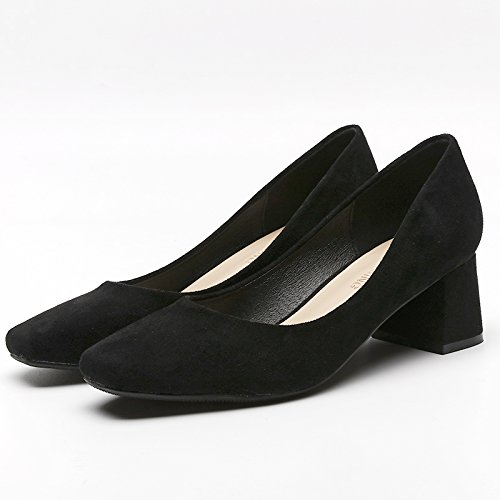 GAOLIM En La Primavera Con Tacones Altos De Cabeza Del Partido Único De La Boca Superficial Zapatos Trabajar Con Zapatos De Mujer 5cm negro
