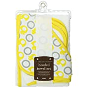 Jj Cole Two-Piece Hooded Towel Set Yellow Ducks