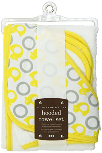Jj Cole Two-Piece Hooded Towel Set Yellow ()