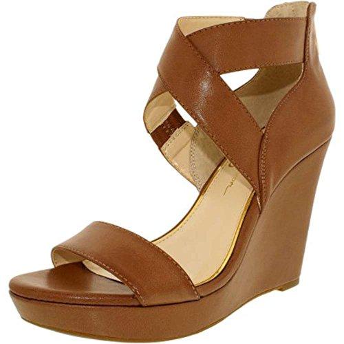 Jessica Simpson Womens Jamilee Open Toe Casual Platform, Light Luggage, Size 7.5