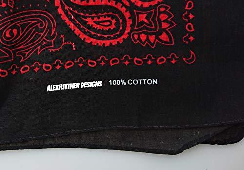 nero con 100 rosso Alex Flittner 50 Paisley motivo diversi Exclusiv Designs Bandana in colori cotone tA7q7pw