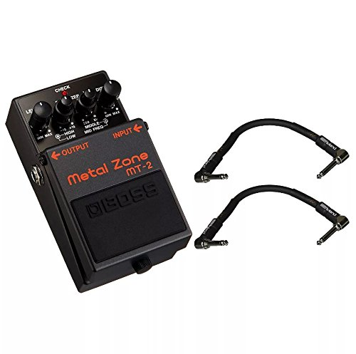 Boss MT-2 Metal Zone and 2 Roland Black Series 6 inch Patch Cables
