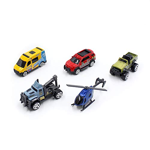 BEIHUI Kids Cars Toy for Toddlers Alloy Vehicle Car Toys Sets Baby Mini Die Cast Model Construction Cartoon Car Vehicles for 1 2 3 4 5 6 Years Old, 5 -